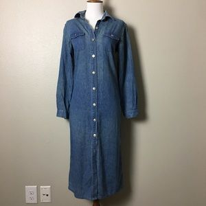 Talbots Vintage Denim Midi Dress